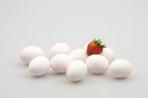 Egg and Strawberry - iStock_000002631275Small